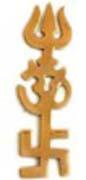 Swastic-OM-Trishul Symbol